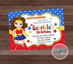 Maravilla maravilla mujer invitación invitación de cumpleaños