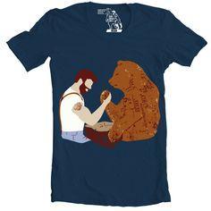 Arm Wrestling T-Shirt, Men's Tee, Beard vs. Bear by sharpshirter on Etsy https://www.etsy.com/listing/189597465/arm-wrestling-t-shirt-mens-tee-beard-vs