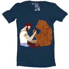 Arm Wrestling T-Shirt, Men's Tee, Beard vs. Bear by sharpshirter on Etsy https://www.etsy.com/listing/189597465/arm-wrestling-t-shirt-mens-tee-beard-vs