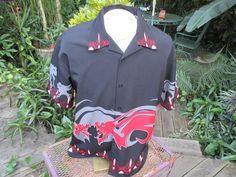 DRAGONFLY mens club lounge shirt pit pit 24 L polyester Dragon motif Mens Hawaiian Shirts, Pit Pit, Dragon, Lounge, Club, Jackets, Fashion, Airport Lounge, Down Jackets