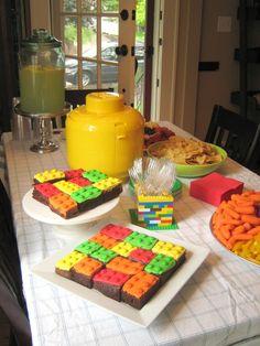 Lego Birthday - Lego Brownies