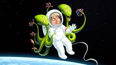 Сообщество иллюстраторов / Иллюстрации / Евгений Паненко / День космонавтики
