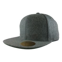 The Classic Snapback in melton wool fabric. Premium Wool Blend. Matching  plastic snap. a7b93bd0e786