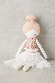 Anthropologie Ballerina Plush Toy