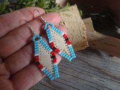 Boucle d'oreilles Amérindienne. Écorce de par CreationSecondeNatur