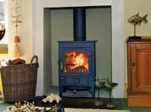 Clearview; in my opinion, the best wood burning stoves around.  Dual fuel, controllable heat, efficient and beautiful.