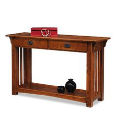 8233 Mission Console Table with Drawers and Shelf - Medium Oak - Sears