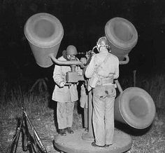 WW II Blurt Listening Device Mk I  A primitive blurt listening device that eventually proved ineffective in that by the time the marauding blurts were finally heard, the accompanying filth was in the trenches. Made way for the Mk II which had superior blurt listening superiority