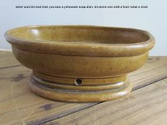 love it ... yellowware soap dish