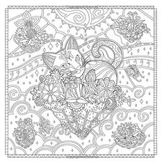 Adult Coloring Pages Books Colouring Secret Places Andy Warhol Zentangles Doodles Print