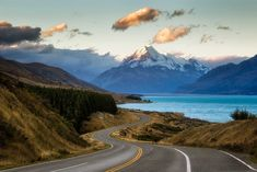 10 Most Scenic Roads in New Zealand - South Island - In A Faraway Land New Zealand Lakes, New Zealand North, Visit New Zealand, New Zealand South Island, New Zealand Itinerary, New Zealand Travel, Driving In New Zealand, New Zealand Adventure, Lake Tekapo