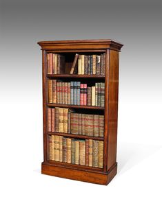 Moulded cornice over three adjustable shelves. Antique Bookcase, Built In Bookcase, Bookcases, Home Decor Hacks, Diy Home Decor, Home Libraries, Do It Yourself Home, Antique Shops, Wood Working