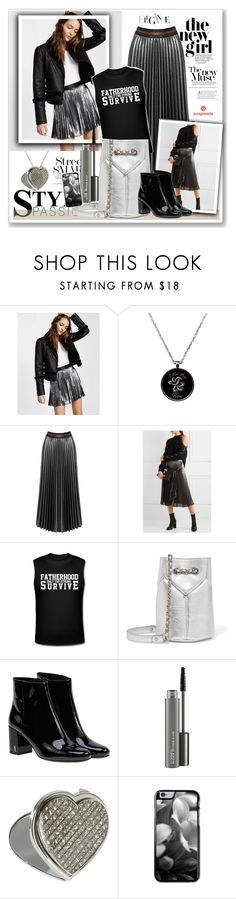 """Untitled #1856"" by juyliana-vl ❤ liked on Polyvore featuring Express, Sans Souci, Christopher Kane, Jérôme Dreyfuss, Yves Saint Laurent and MAC Cosmetics"