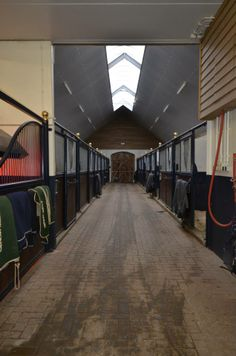 Stables with plenty of natural light from the roof construction. #stables