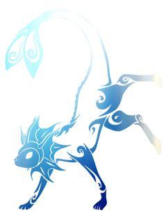 Vaporeon<<<I kinda want this as a tattoo now Tribal Pokemon, All Pokemon, Pokemon Fusion, Cute Pokemon, Cool Pokemon Cards, Pokemon Tattoo, Pokemon Eeveelutions, Cool Drawings, Animal Drawings