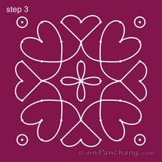 7x7 Dot Rangoli Step 3