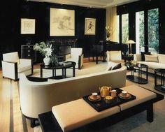 innendesign ideas furniture chic black art deco style walls interior design ideas