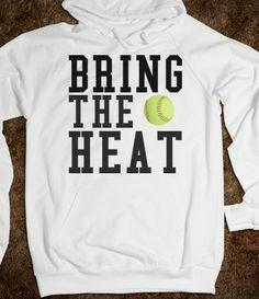 Bring the Heat Softball Hoodie Sweatshirt