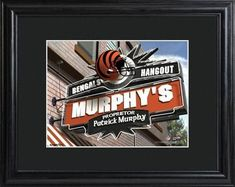 NFL Pub Print with Matted Frame Personalized Free www.GiftsEngraved.net