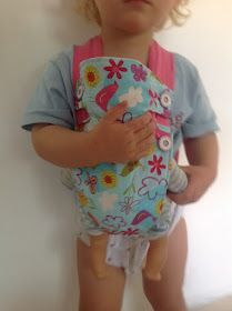 Baby doll carrier for Leni, so she can be like mom when the baby comes :-)