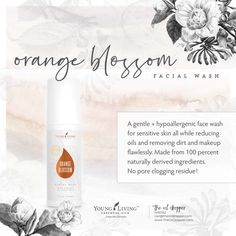 Energize your beauty routine with Young Living's Orange Blossom Facial Wash. Made from 100 percent n Coconut Essential Oil, Essential Oils For Skin, Rose Essential Oil, Young Living Essential Oils, Young Living Orange, Serum For Dry Skin, Facial Wash, Living Oils, Orange Blossom