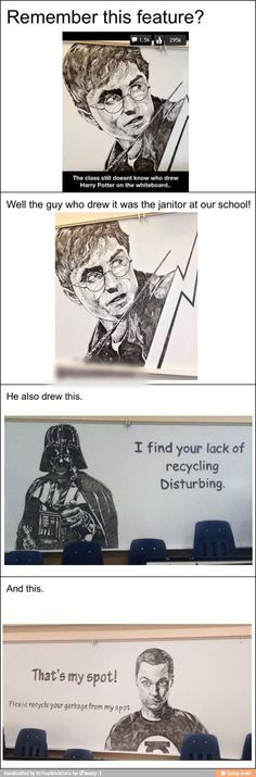 This janitor should be an artist – Funny Memes - best_drawing_pintous Stupid Funny, The Funny, Hilarious, Funny Kids, Funny Art, Funny Quotes, Funny Memes, Memes Humor, Oeuvre D'art