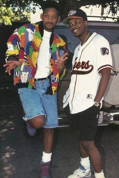 Jazzy jeff & the fresh prince kylie jenner, black fashion, hip hop Fashion Male, Fashion Guys, 2000s Fashion, Look Fashion, Trendy Fashion, Fashion Outfits, 90's Hip Hop Fashion, Old School Fashion, Black 90s Fashion