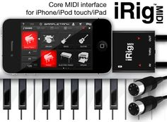 iRig MIDI is an ultra-compact standard Core MIDI interface for iOS that connects any MIDI compatible device to the iPhone®, iPod touch® and iPad®.