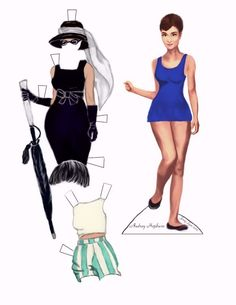 My very own Audrey Paper doll, my own creation