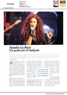 Nathalie La Rose dans Chocolate le 1er octobre 2015