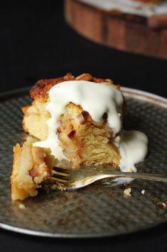 French Apple Vanilla and Rum Cake