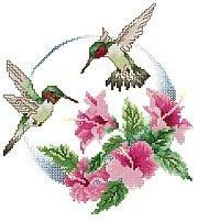 Hummingbird Cross Stitch Kits   Stamped Cross Stitch – Hancock Fabrics: Discover the Designer in You
