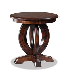 """Amish Saratoga 24"""" Round Solid Top End Table"""