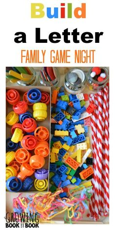 A fun family game night activity that builds letter identification and creativity from growingbookbybook.com .