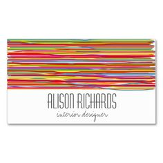 Fabric Interior Designer Business Card / Calling Card / Mommy Card ...