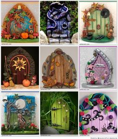 Polymer Clay Fairy Door Under The Sea by MistsofAzura on Etsy, £15.00