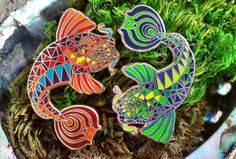 Long SOLD OUT Bassnectar Koi Fish Hat Pin by ELISden on Etsy