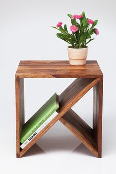 guestroom nightstands or sunroom end tables // #woodwork // Zig Zag Cubed Side Table http://uoeur.pe/uohomewares #Home #UrbanOutfittersEurope