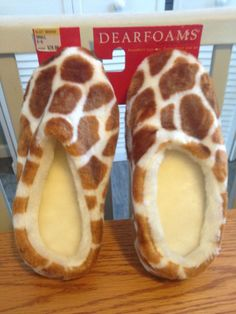 Women's Dearforms Slippers/Houseshoes-Giraffe 5-6)--NEW!! SO COMFY! L@@K