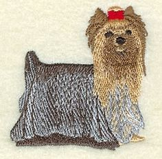 Yorkshire Terrier - 4x4 | Tags | Machine Embroidery Designs | SWAKembroidery.com Starbird Stock Designs