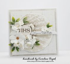 in my craft world: Kartka komunijna First Communion Cards, First Holy Communion, Christian Cards, Cute Cards, Christening, Special Day, Quilling, Cardmaking, Shabby