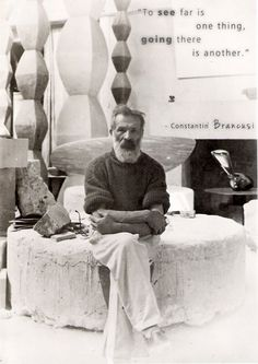 Constantin Brancusi - The Romanian Genius Artist considered to be The Most Important Sculptor of the Century. Short Video documentary with the artist! Creative Studio, Creative Art, Brancusi Sculpture, Constantin Brancusi, Man Ray, Modern Sculpture, Illustrations, Artistic Photography, Famous Artists