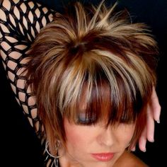 Best 10 Not that brave. but love the bangs :) Funky Short Hair, Short Brown Hair, Cute Hairstyles For Short Hair, Short Hair Cuts, Short Hair Styles, Razor Cut Hair, Sassy Hair, Edgy Hair, Rocker Hair