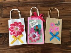Birthday Gift Wrapping, Birthday Gift Bags, Party Gift Bags, Paper Decorations, Flower Decorations, Fuzzy Chair, Beanie Boo Party, Decorated Gift Bags, Holiday Crafts