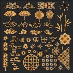 Chinese Design, Asian Design, Chinese Art, Chinese Dragon, Chinese Patterns, Japanese Patterns, Japanese Art, Pattern Art, Pattern Design