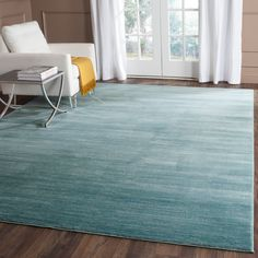 Shop for Safavieh Vision Contemporary Tonal Aqua Blue Area Rug - x Get free delivery at Overstock - Your Online Home Decor Store! Get in rewards with Club O! Aqua Rug, Aqua Area Rug, Blue Rugs, Yellow Rug, Verde Aqua, Modern Area Rugs, Online Home Decor Stores, Online Shopping, Contemporary Decor