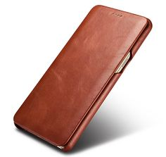 iCarer Samsung Galaxy Note 8 Curved Edge Vintage Genuine Leather Folio Case