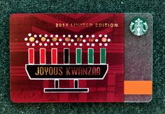 The 2014 Kwanzaa Card. #StarbucksCard