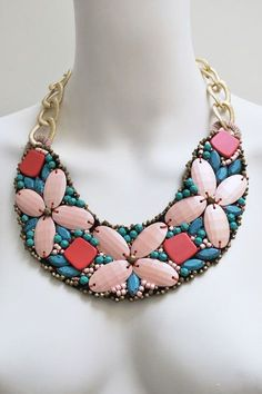 Do want!!!  make a statement...butterfly bib necklace by @Fashionista Bazaar!