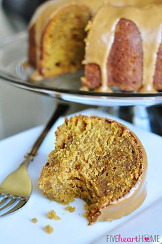 Pumpkin Biscoff Bundt Cake with Cookie Butter Swirl and Glaze